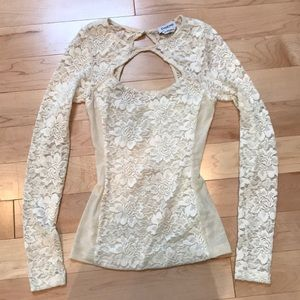 Bebe lace top